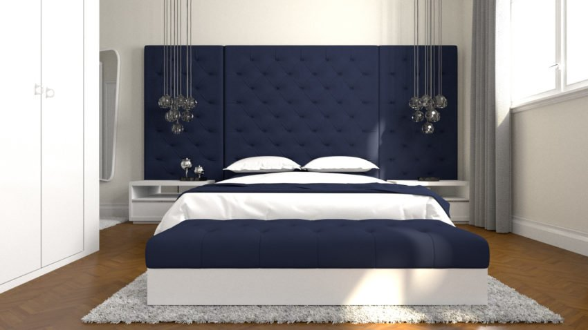 3D Architectural Visualization Of The Bedroom