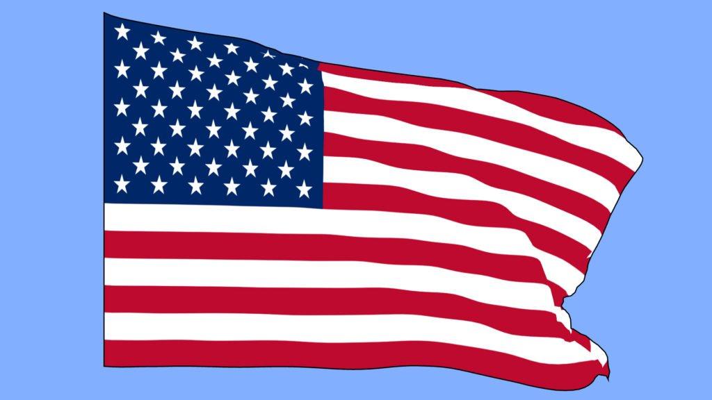 Waving Flag 3D Model Free Cartoon Style