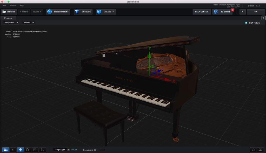 Piano Element 3D Free Model
