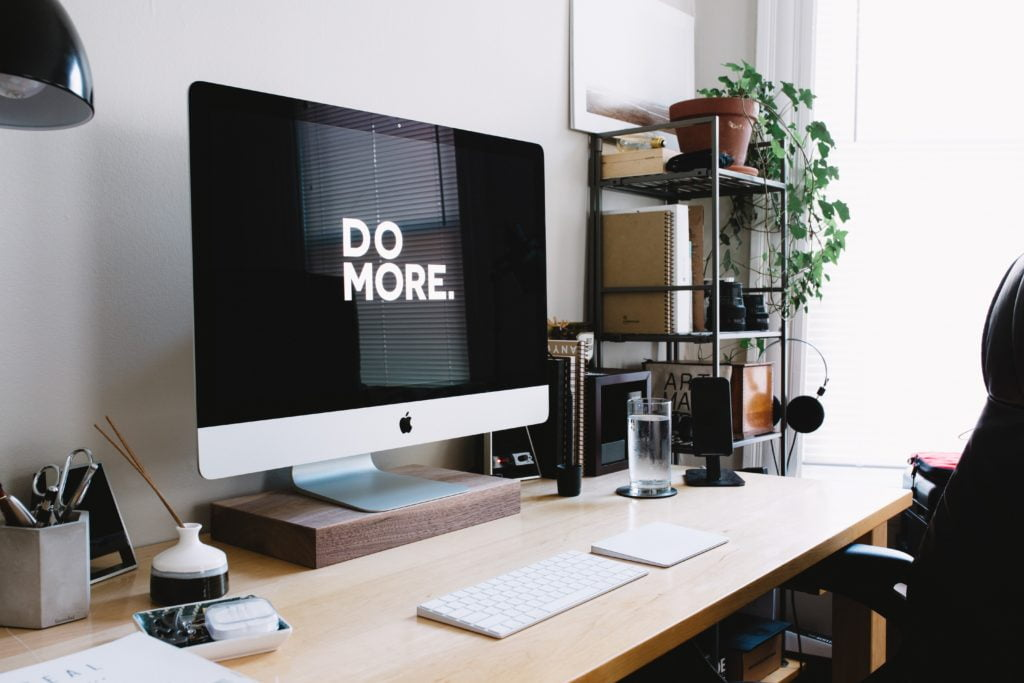 Do More Motivational Text On Computer Monitor