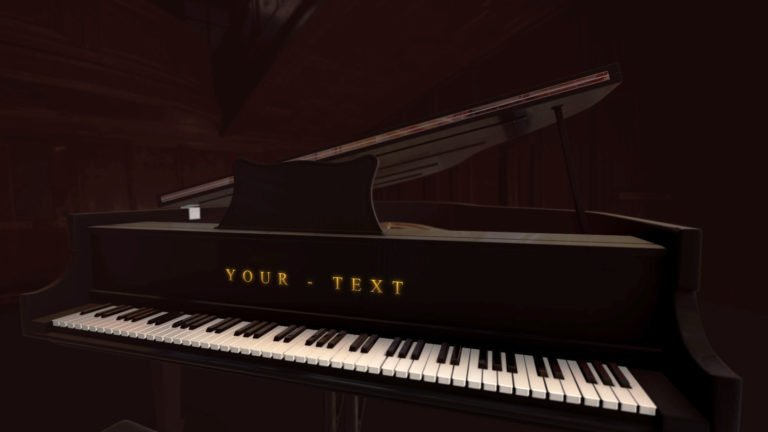Piano Music Free After Effects Template