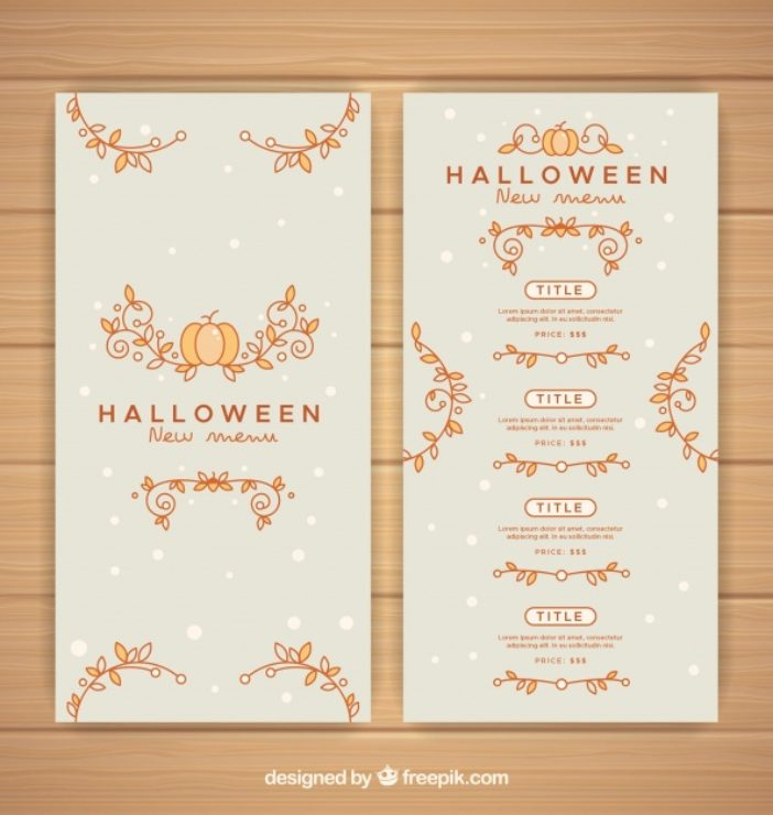 Flower Ornaments Menu Halloween