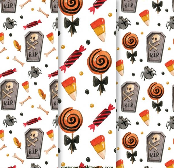 Watercolor Patterns Halloween