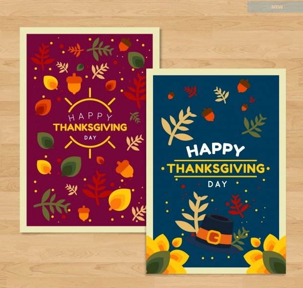 nature themed thanksgiving cards quince media. Black Bedroom Furniture Sets. Home Design Ideas