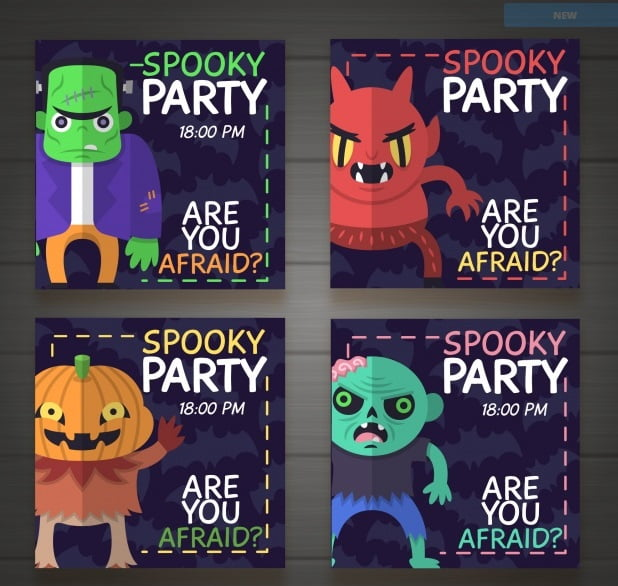 Stylish Halloween Party Invitations