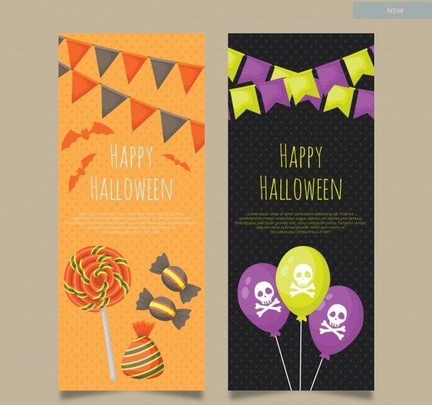 Festive Halloween Vertical Banners