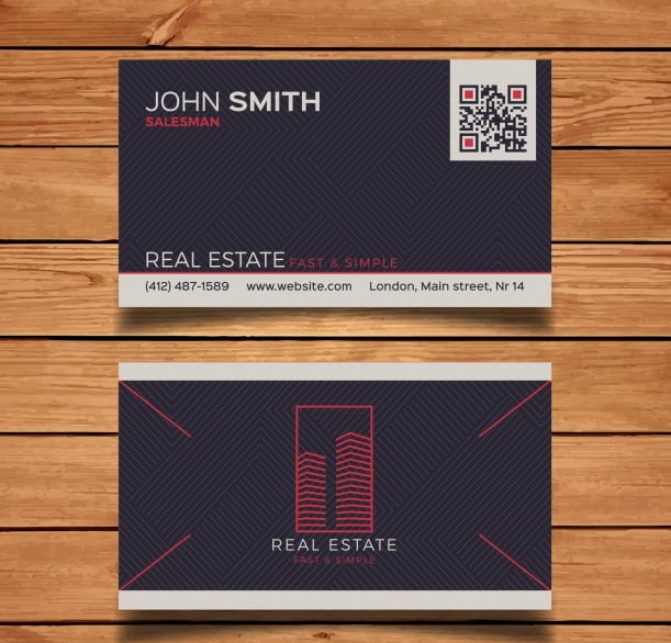 Dark Realtor Business Card