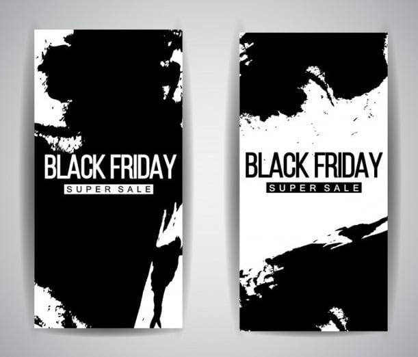 Innovative Black & White Black Friday Leaflet