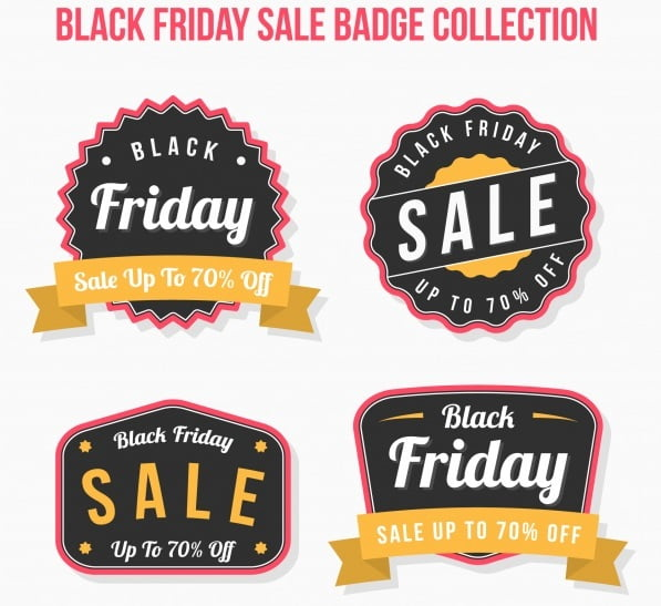 Black Friday Yellow Badges