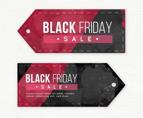 Watercolor Black Friday Banners