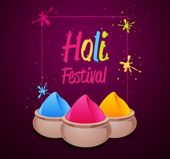 Holi festival colors background