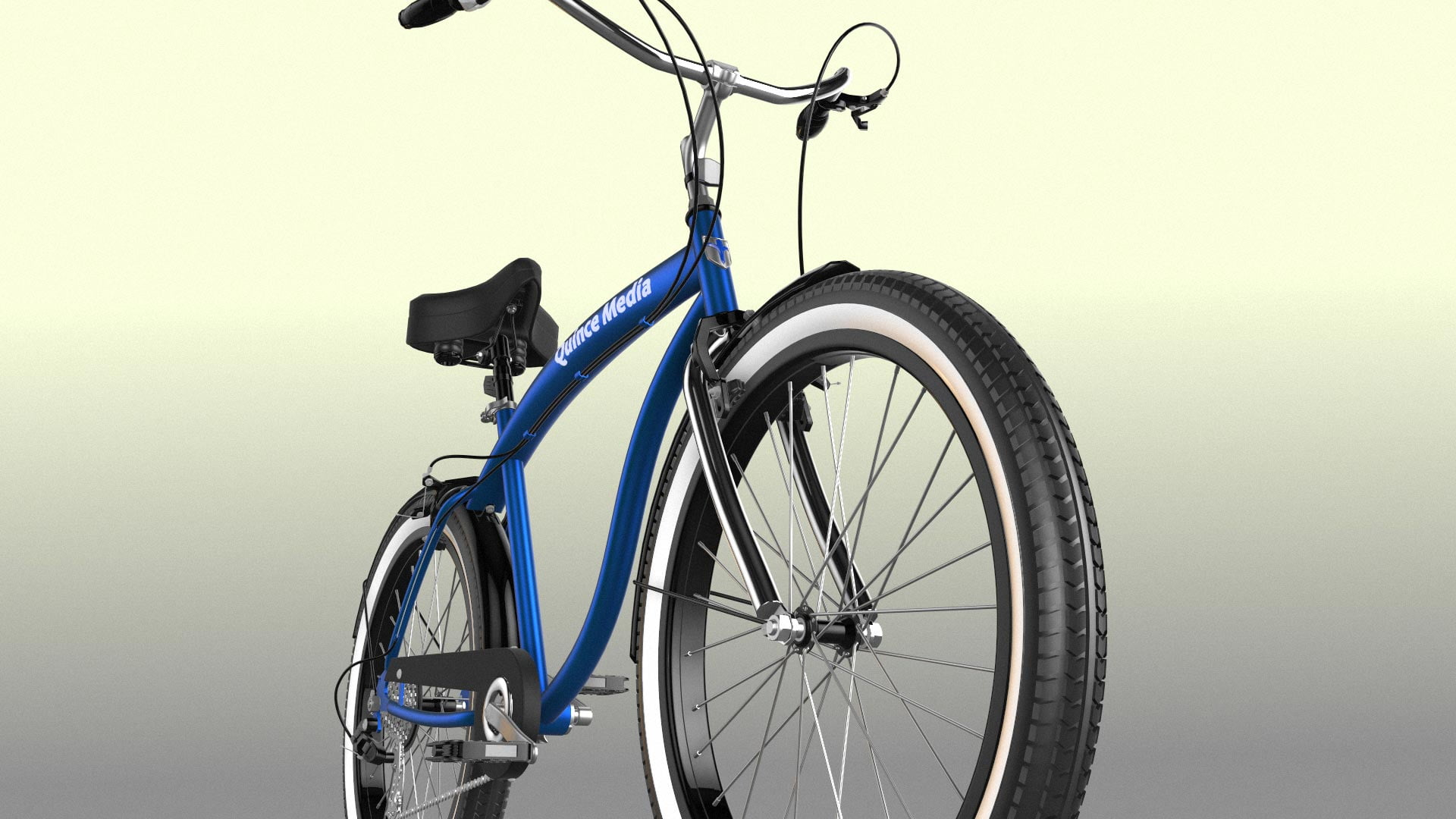 Bicycle 3D Model Rendering
