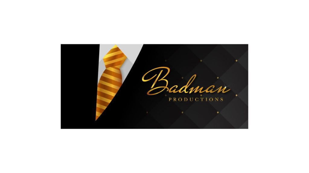 Logo Design Gold Colors Mockup For A Film Company