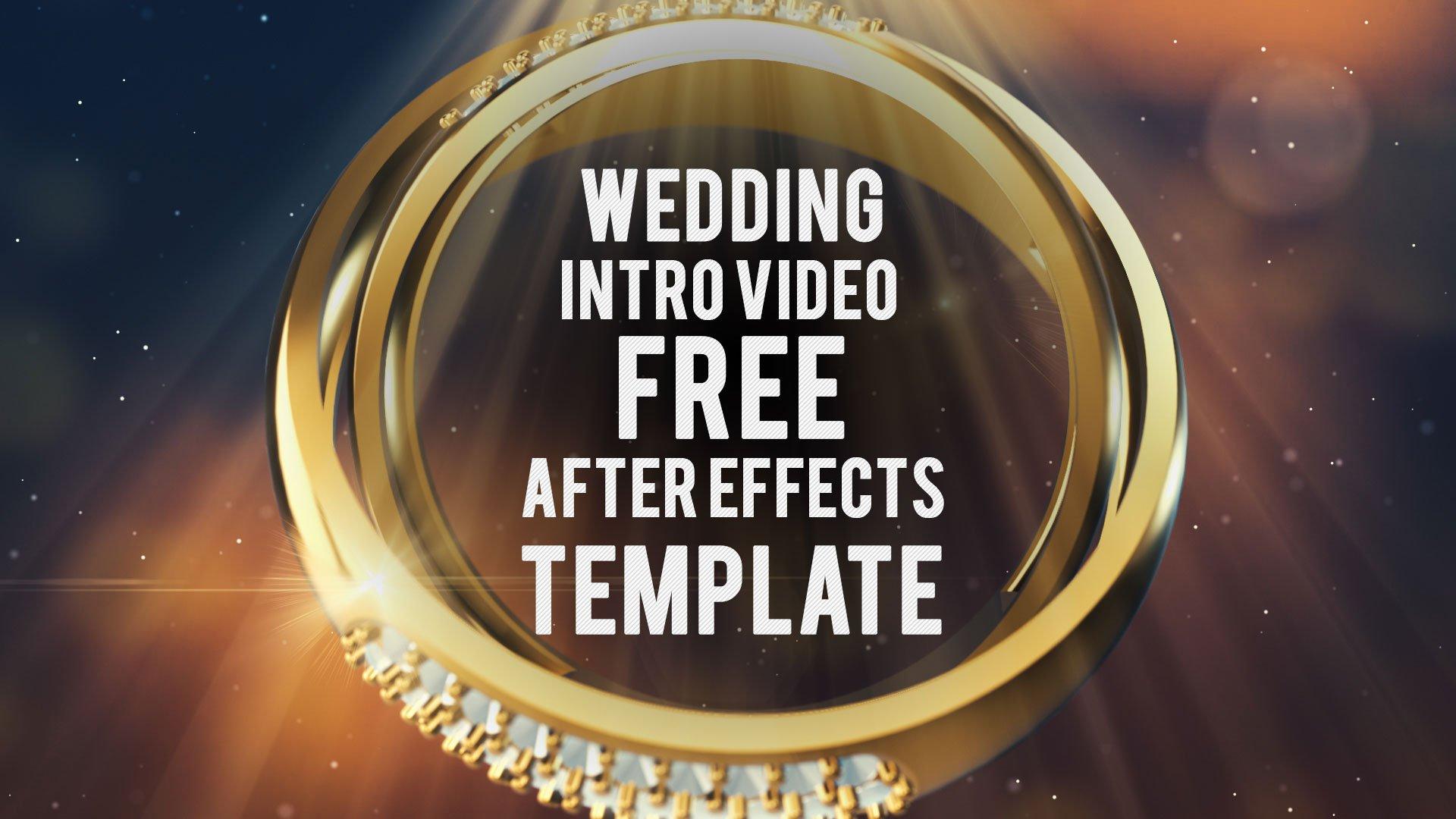 Dva prstena za venčanje intro After Effects