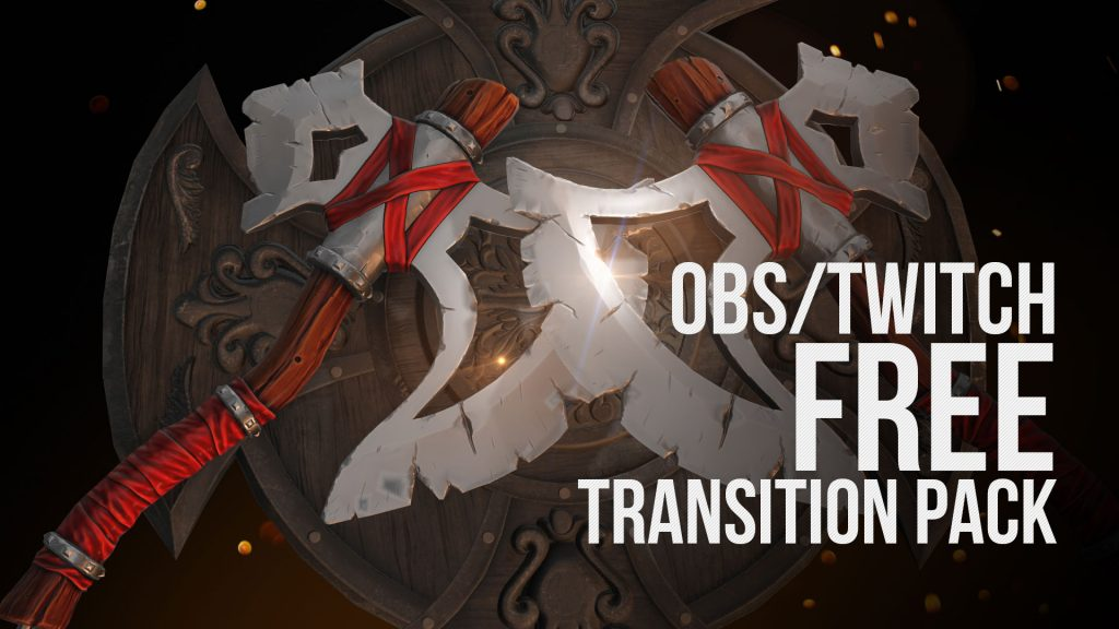 OBS & Twitch Free Transition Pack By Quince Media